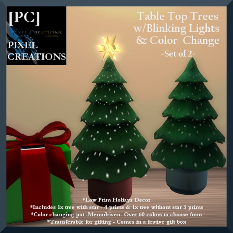PIXEL CREATIONS - TABLE TOP TREES SET OF 2 Blog