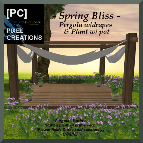 PIXEL CREATIONS - SPRING BLISS PERGOLA & PLANT